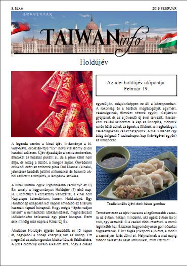 Taiwan Info Február